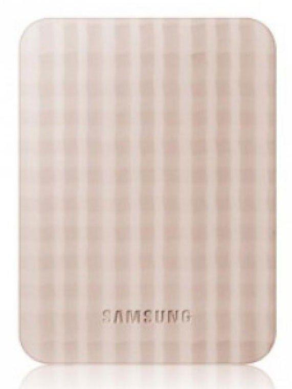 Внешний жесткий диск SEAGATE (Samsung HX-M500UAE), 500Гб, бежевый [hx-m500uae/g]