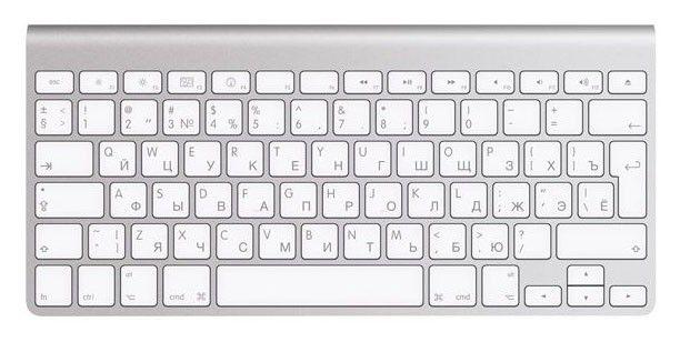 Клавиатура APPLE MC184RS/B,  bluetooth, серебристый