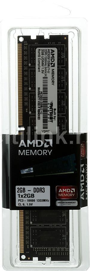 Модуль памяти AMD Entertainment Edition AE32G1339U1 DDR3 -  2Гб 1333, DIMM,  Ret