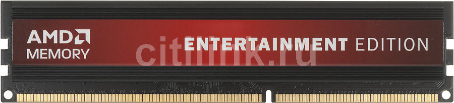 Модуль памяти AMD Entertainment Edition AE32G1609U1 DDR3 -  2Гб 1600, DIMM,  Ret