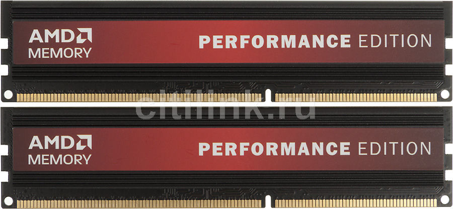 Модуль памяти AMD Performance Edition AP34G1338U1K DDR3 -  2x 2Гб 1333, DIMM,  Ret