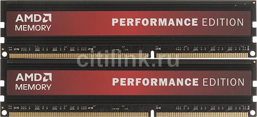 Модуль памяти AMD Performance Edition AP38G1338U2K DDR3 -  2x 4Гб 1333, DIMM,  Ret
