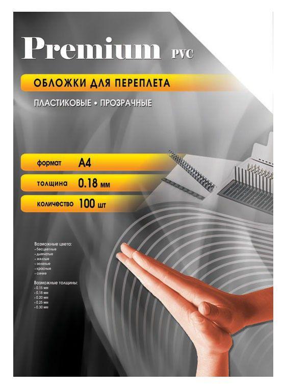 Обложка OFFICE KIT PCA400180,  A4,  180мкм,  100,  прозрачный
