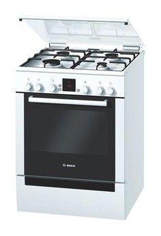 Газовая плита BOSCH HGV645220R,  электрическая духовка,  белый