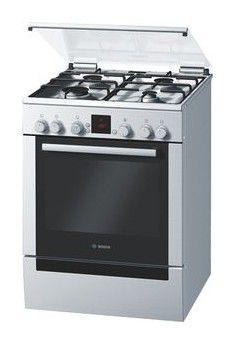 Газовая плита BOSCH HGV645250R,  электрическая духовка,  серебристый