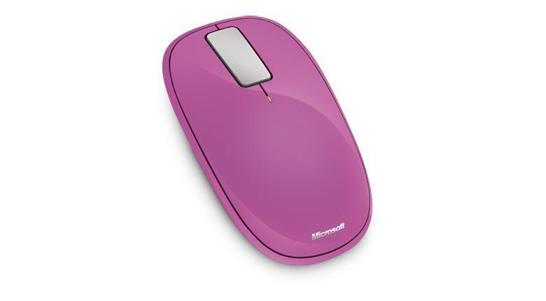 Мышь MICROSOFT Explorer Touch оптическая беспроводная USB, розовый [u5k-00040]