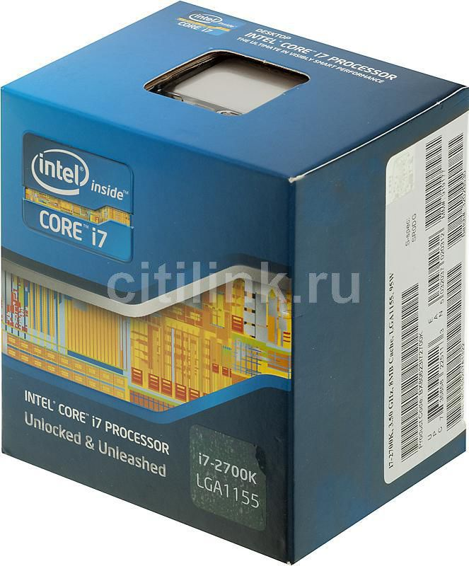 Процессор INTEL Core i7 2700K, LGA 1155 BOX [bx80623i72700ksr0dg]
