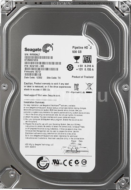 Жесткий диск SEAGATE ST3500312CS,  500Гб,  HDD,  SATA II,  3.5