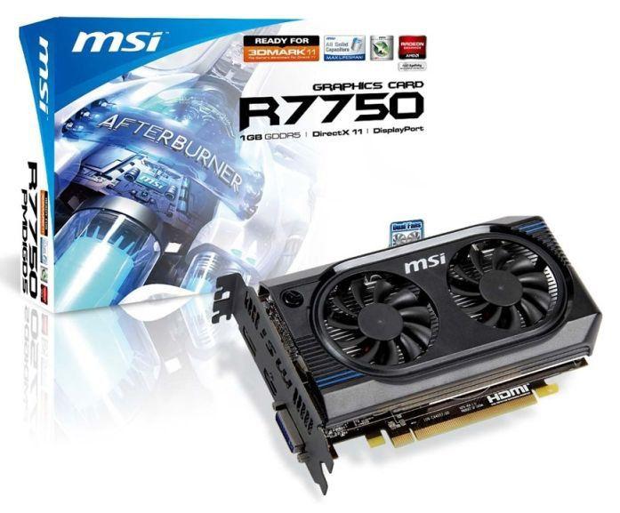Видеокарта MSI Radeon HD 7750,  1Гб, GDDR5, Ret [r7750-pmd1gd5]