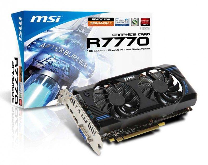 Видеокарта MSI Radeon HD 7770,  1Гб, GDDR5, Ret [r7770-2pmd1gd5]