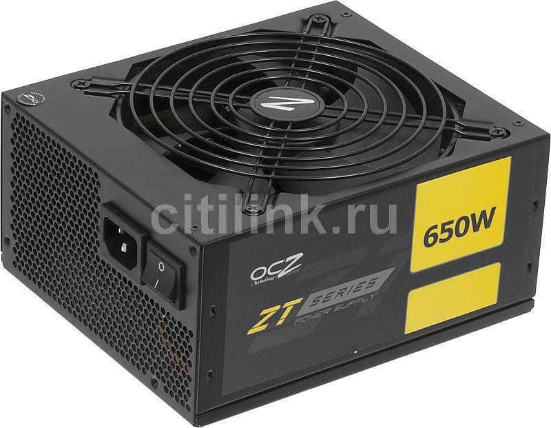 Блок питания OCZ ZT650W,  650Вт,  140мм,  черный, retail