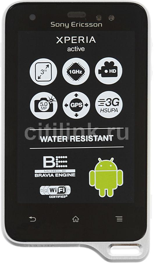 Смартфон SONY Xperia active ST17i  черный/белый