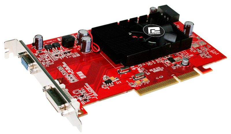 Видеокарта Power Color AGP ATI AG3450 512MD2-V2 DDR2 CRT/DVI/TVO bulk