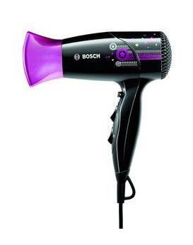 Фен BOSCH PHD2511, 1800Вт, черный и фиолетовый