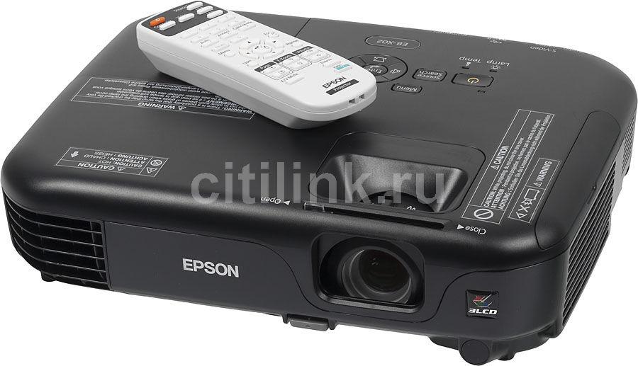 Проектор EPSON EB-X02 черный [v11h432140]