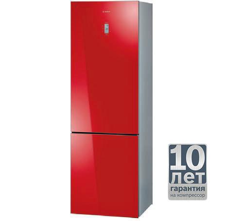 Холодильник BOSCH KGN36S55RU,  двухкамерный,  красный