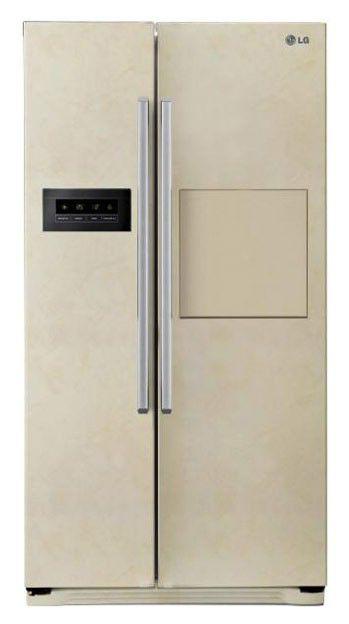 Холодильник LG GW-C207QEQA,  двухкамерный,  бежевый