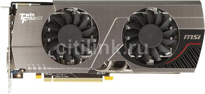 Видеокарта MSI AMD  Radeon HD 7870 ,  2Гб, GDDR5, OC,  Ret [r7870 twin frozr 2gd5/oc]