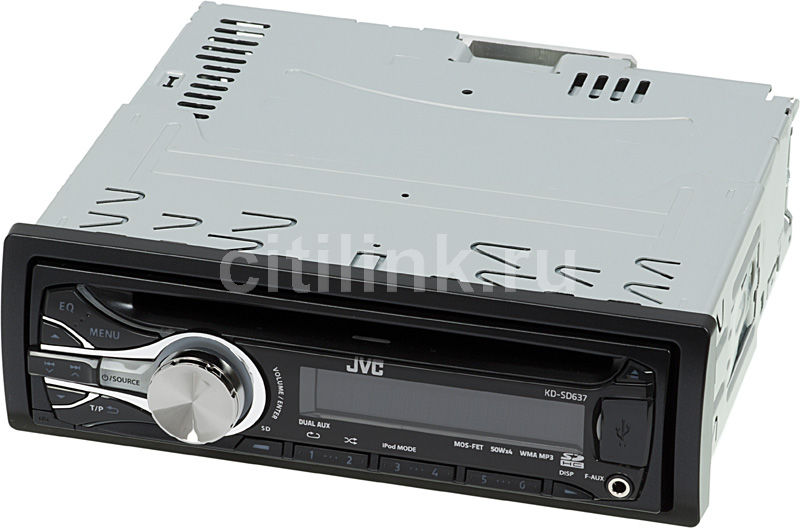 Автомагнитола JVC KD-SD637EE,  USB,  SDHC