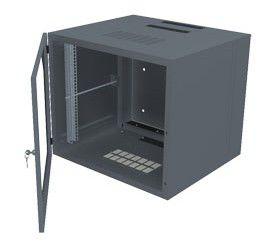 Шкаф настенный Molex (RAA-00357) 15U 583x525мм пер.дв.стекл несъемные бок.пан. 60кг графитовый
