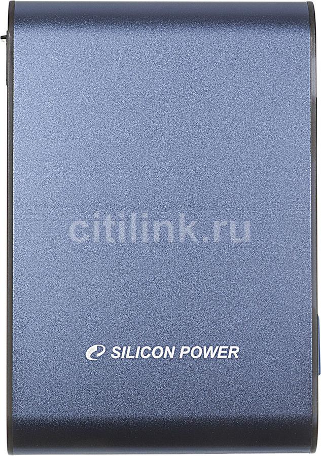Внешний жесткий диск SILICON POWER Armor A80, 640Гб, синий [sp640gbphda80s3b]