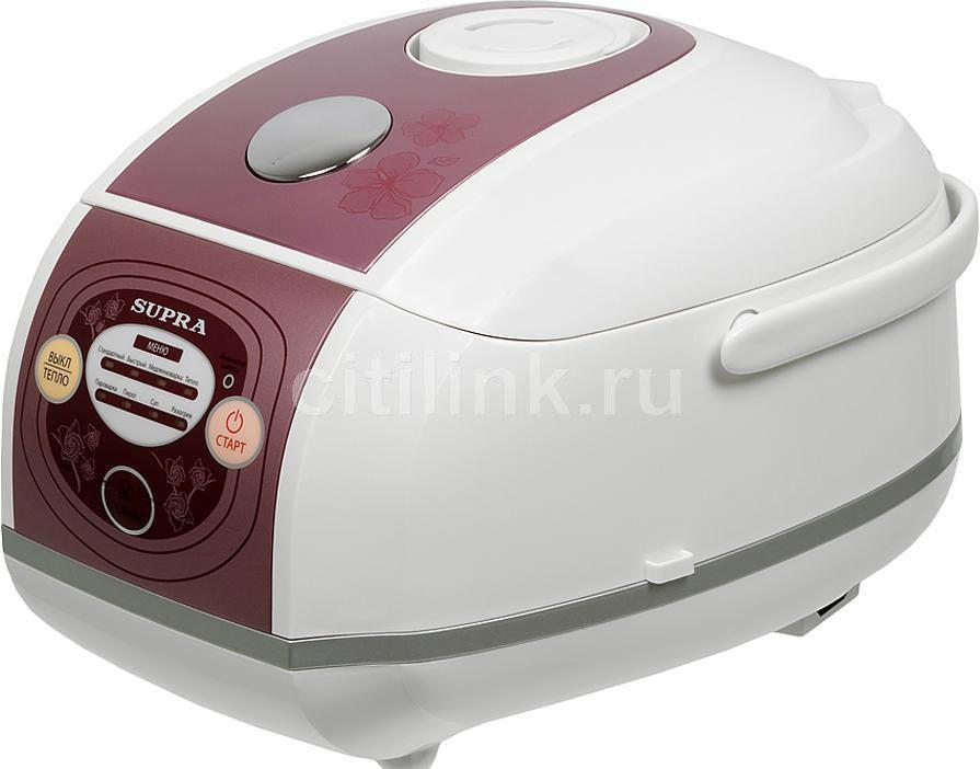 Мультиварка SUPRA MCS-4521,  700Вт,   белый/розовый