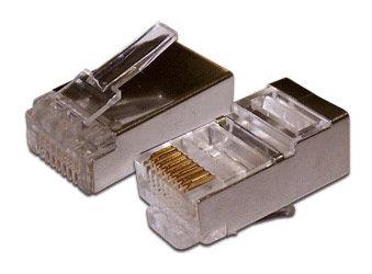 Коннектор медный Lanmaster (TWT-PL45/S-8P8C) RJ45 кат.5e серебристый