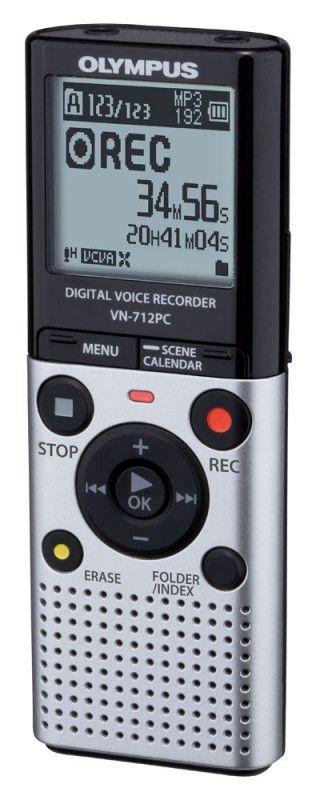 Диктофон OLYMPUS VN-712PC 2 Gb,  серебристый [v405161se000]