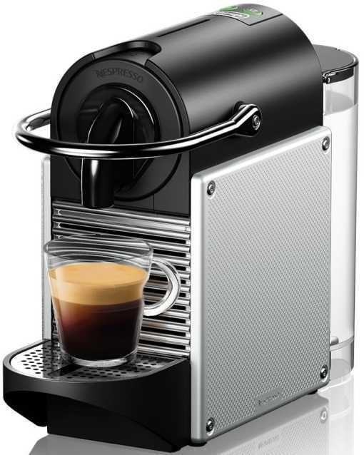 Капсульная кофеварка DELONGHI Nespresso Pixie EN125.S, серебристый [0132190542]