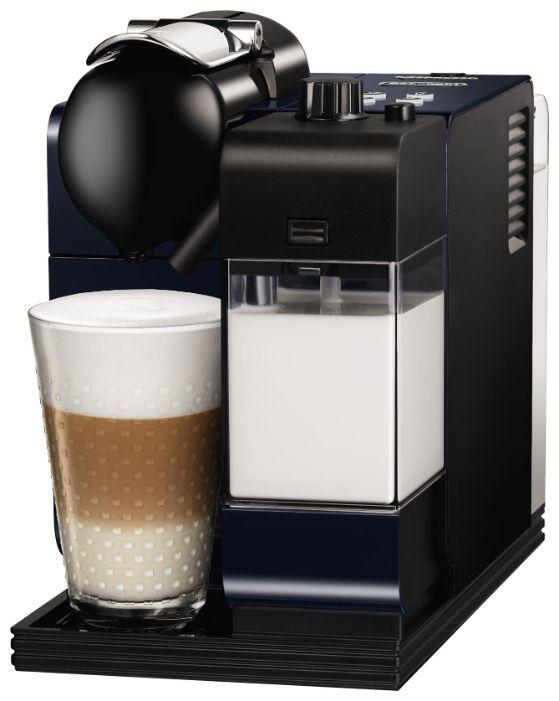 Капсульная кофеварка DELONGHI Nespresso Latissima EN520.BL, 1300Вт, цвет: синий