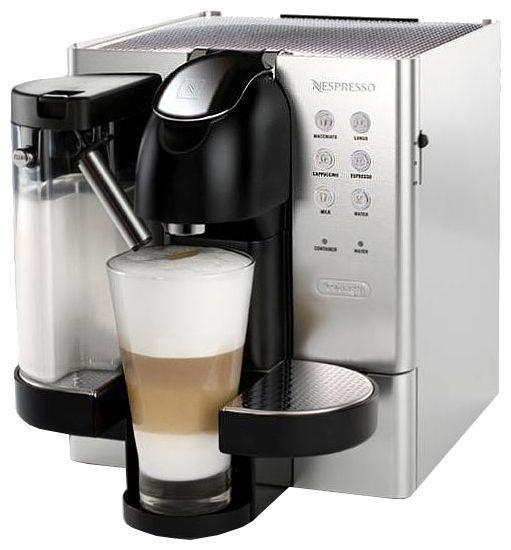Капсульная кофеварка DELONGHI Nespresso Lattissima EN720.M, 1300Вт, цвет: серебристый