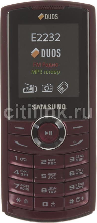 Мобильный телефон SAMSUNG GT-E2232  красный