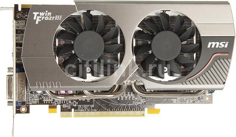Видеокарта MSI Radeon HD 7850,  2Гб, GDDR5, OC,  Ret [r7850 twin frozr 2gd5/oc]