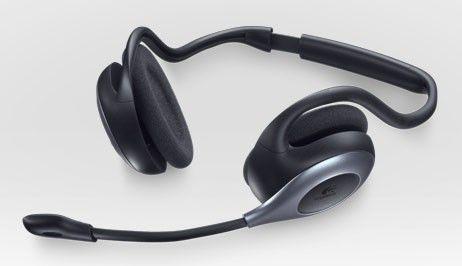Наушники с микрофоном LOGITECH Wireless Headset H760,  981-000266,  накладные, радио,  черный  / серый