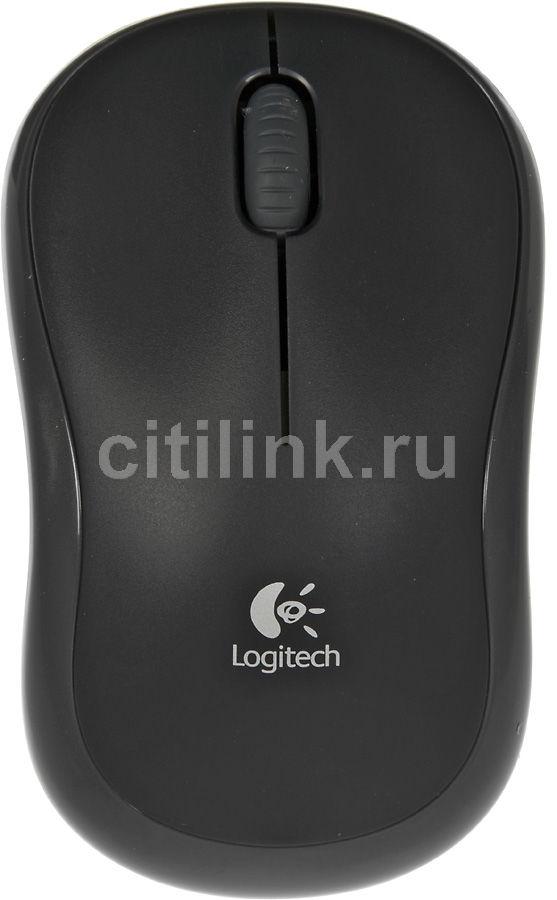 Мышь LOGITECH M175 оптическая беспроводная USB, черный [910-002778]