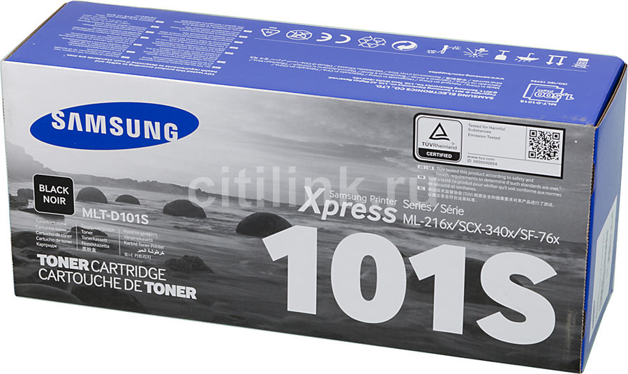 Картридж SAMSUNG MLT-D101S/SEE черный for samsung mlt d101 chip 101 laser printer ml 2160 2165 2168 scx 3400 3405 3402 cartridge resetter toner chips