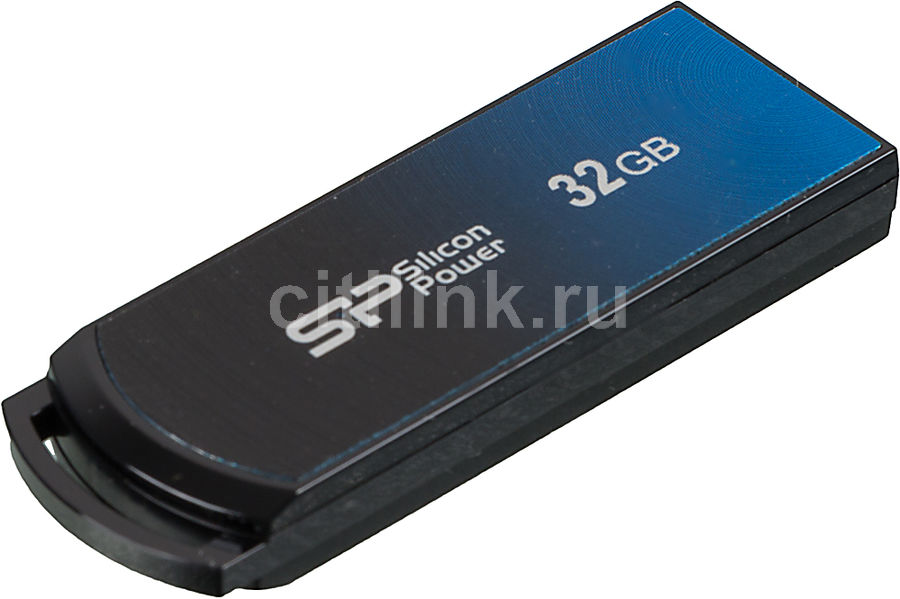 Флешка USB SILICON POWER Ultima U01 32Гб, USB2.0, синий [sp032gbuf2u01v1b]