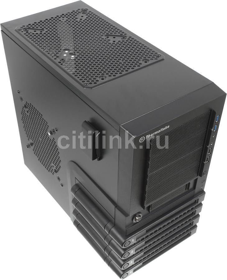 Корпус ATX THERMALTAKE Level 10 GTS VO30001N2N, Midi-Tower, без БП,  черный