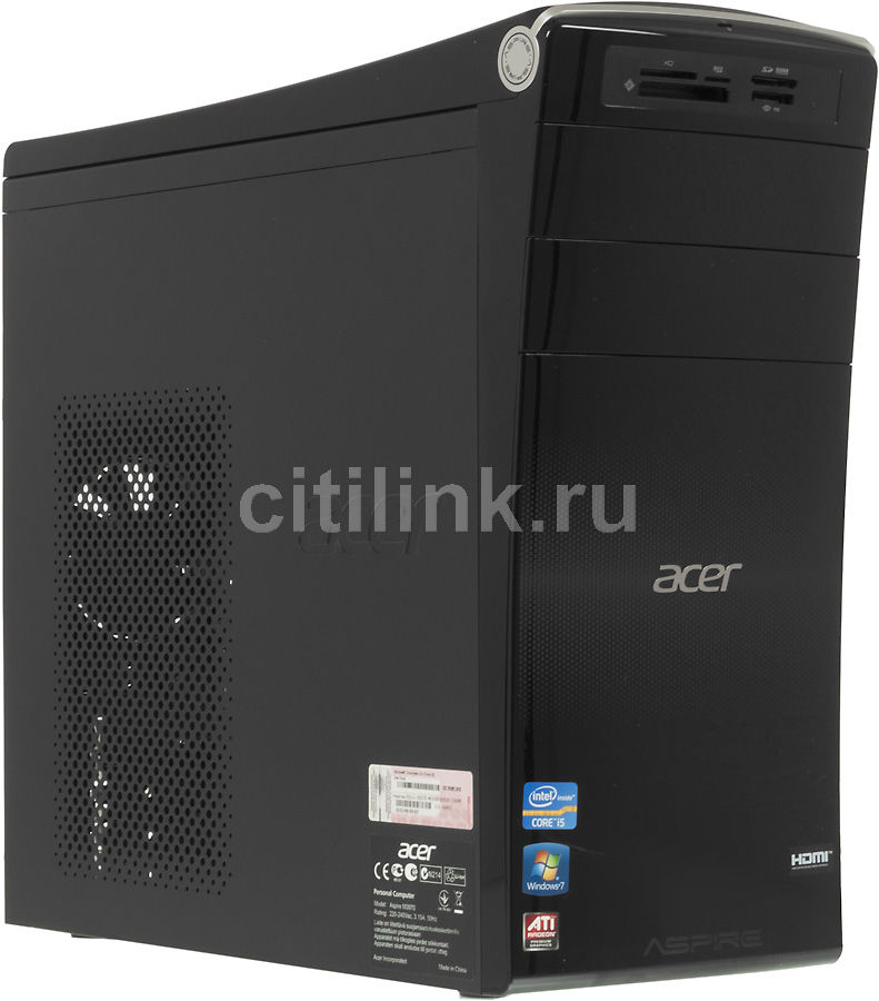 Компьютер  ACER Aspire M3970,  Intel  Core i5  2320,  DDR3 4Гб, 500Гб,  AMD Radeon HD 7670 - 2048 Мб,  DVD-RW,  CR,  Windows 7 Home Basic,  черный [dt.sjyer.004]