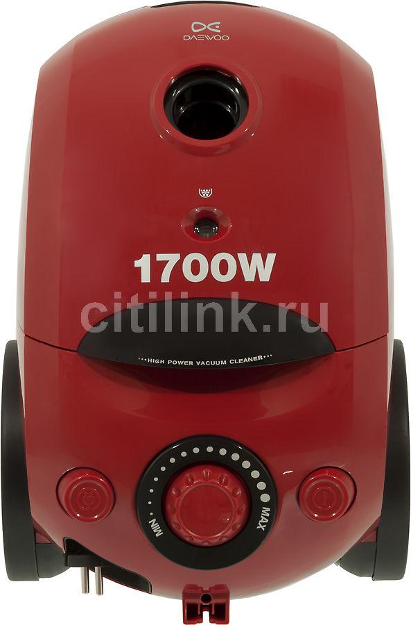 Пылесос DAEWOO RC-6880RA, 1700Вт, красный/черный