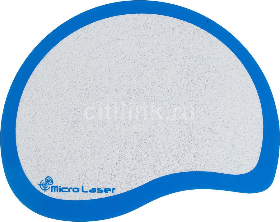 Коврик для мыши  Micro Laser plus голубой/серебристый