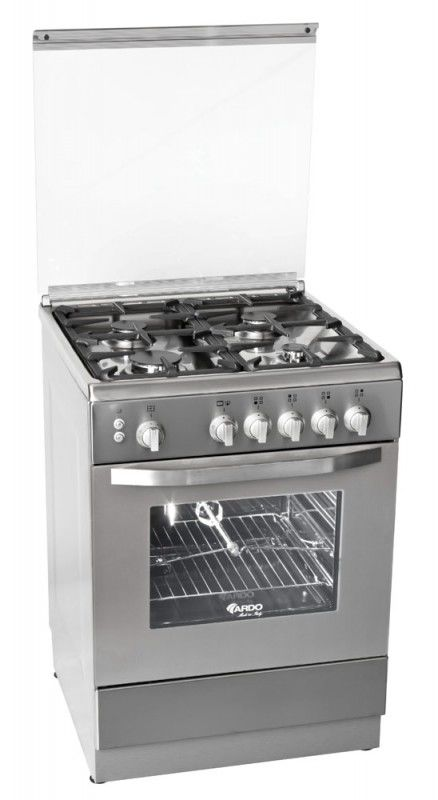 Газовая плита ARDO 55GE40X,  электрическая духовка,  серебристый