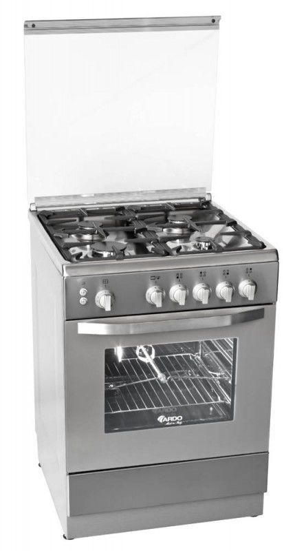 Газовая плита ARDO 55GG40VX,  газовая духовка,  серебристый