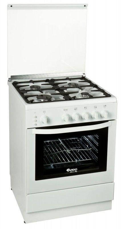 Газовая плита ARDO 55GG40W,  газовая духовка,  белый