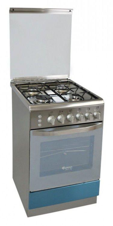 Газовая плита ARDO 56GG40X,  газовая духовка,  серебристый