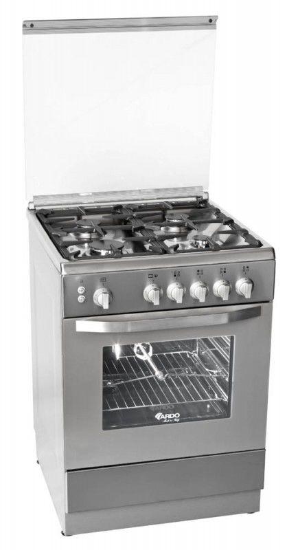 Газовая плита ARDO 66GG40X,  газовая духовка,  серебристый