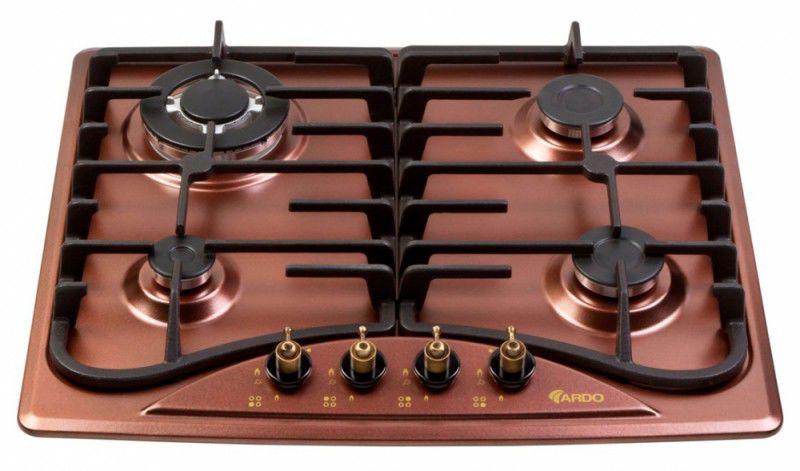 Варочная поверхность ARDO HBF6V4GTC,  коричневый
