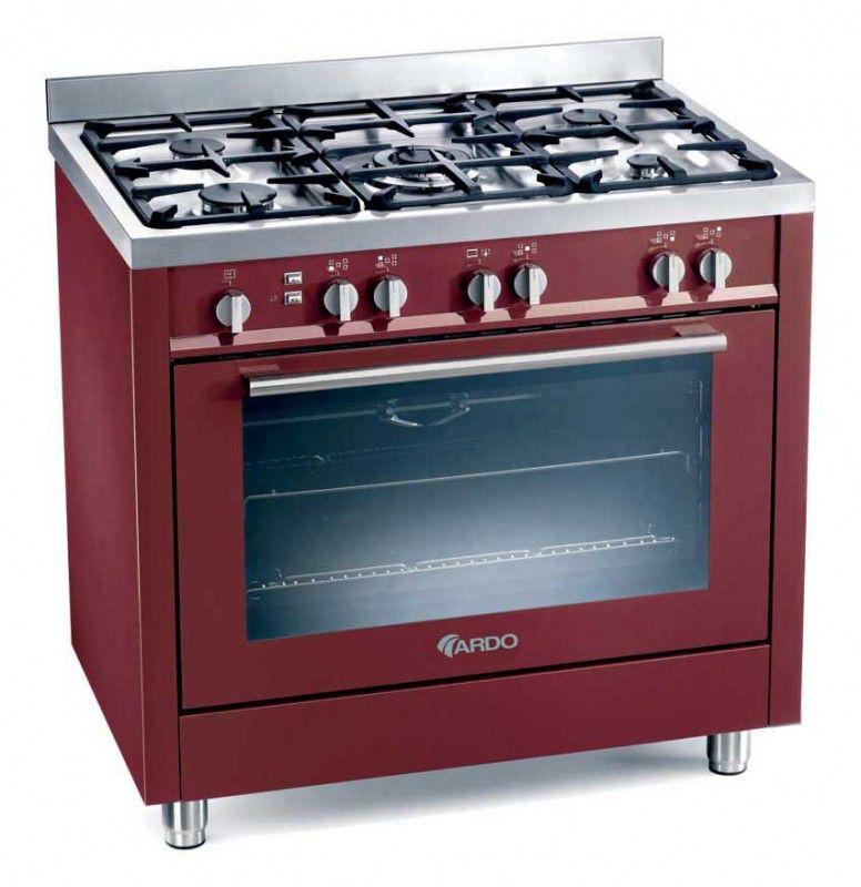 Газовая плита ARDO PL998 YORK,  газовая духовка,  красный