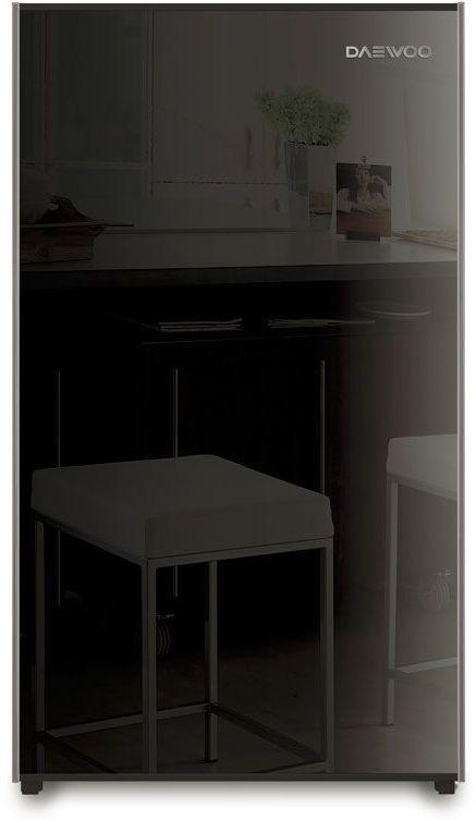 Холодильник DAEWOO FN-15B2B,  однокамерный, черный/стекло