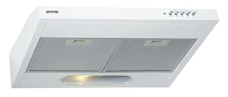 Вытяжка козырьковая Gorenje DU6345W белый управление: кнопочное (1 мотор)